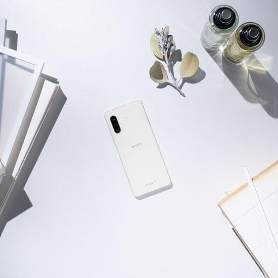 Sony Xperia 10 II pametni telefon, 4GB/128 GB, bel + DARILO Sony slušalke CH510, črne