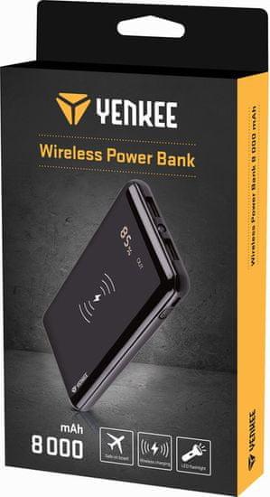 Yenkee YPB 0820 Wireless Power bank 8000