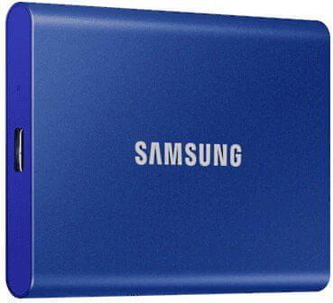Samsung T7 SSD zunanji trdi disk, 1 TB, Type-C, modr