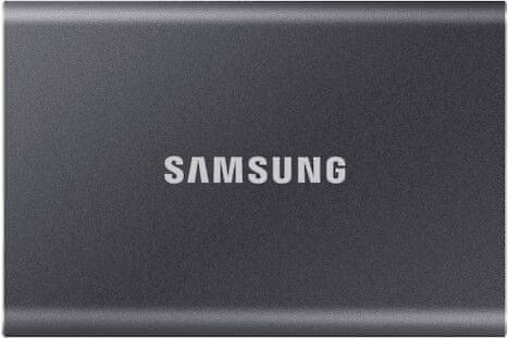 Samsung T7 SSD zunanji trdi disk, 1TB, Type-C, siv
