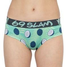 69 SLAM Dámské kalhotky boxer bamboo coco blue - velikost L