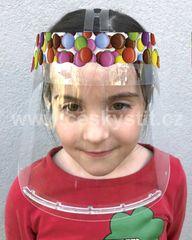 Český štít Obličejový ochranný štít pro děti BABY (3-6 let) vzor Lentilky