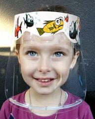 Český štít Obličejový ochranný štít pro děti BABY (3-6 let) vzor Funny fish