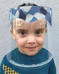 Český štít Obličejový ochranný štít pro děti BABY (3-6 let) vzor Modré maskování