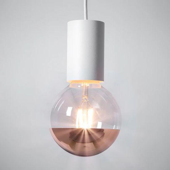 Diolamp Retro LED Filament zrcadlová žárovka 4W/230V/E14/2700K/400Lm/180°/DIM, měděný vrchlík
