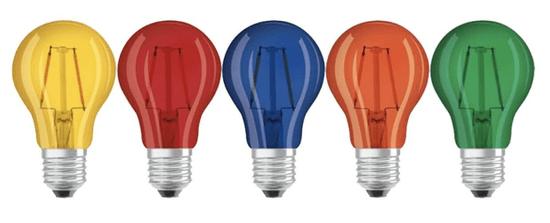 Diolamp LED Decor Filament barevná žárovka P45 4W/230V/E27/Red/390Lm/360°, červená