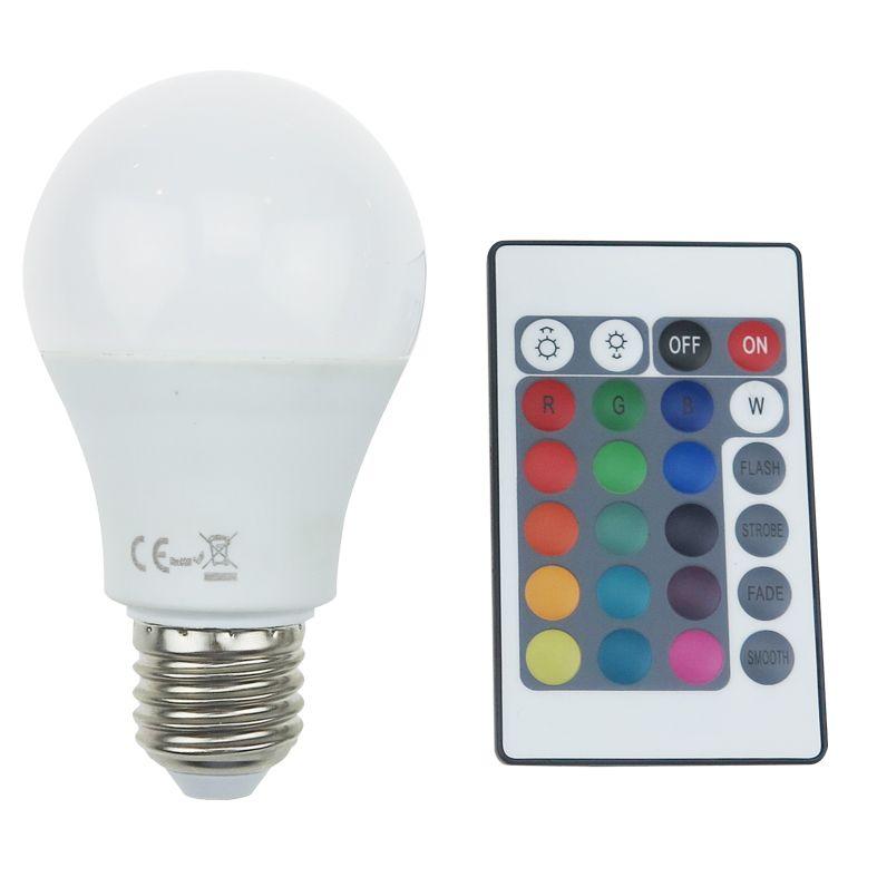 Diolamp SMD LED žárovka matná A60 8W/230V/E27/RGB+3000K/650Lm/180°/Dim/A+/dálkový ovladač