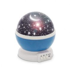 PHENOM Moon&Star otroška projektorska svetilka za dečke modra