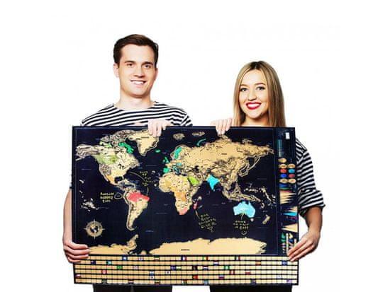 Alum online Velká stírací mapa světa