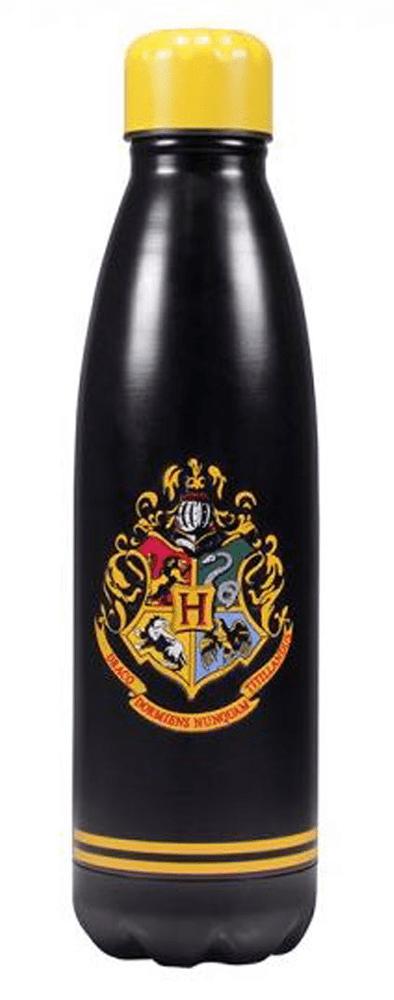 CurePink Nerezová láhev na pití Harry Potter: Hogwarts (objem 500 ml)