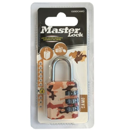 MasterLock 1509EURDCAMO Kombinační visací zámek - 30mm