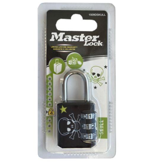 MasterLock 1509EURDSKULL Kombinační visací zámek - 30mm