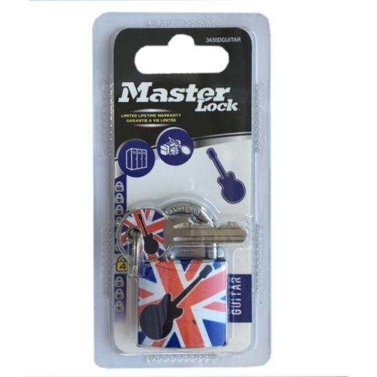 MasterLock Visací zámek Master Lock z pevného hliníku 3430EURDGUITAR - 30mm