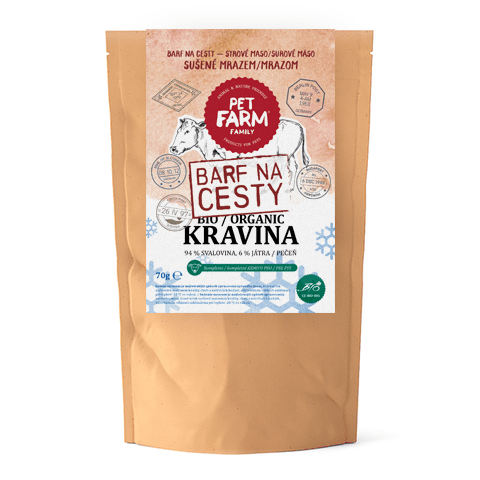 Pet Farm Family BIO Kravina BARF na cesty 70 g