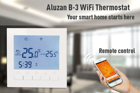Aluzan B-3 WiFi, programovateľný termostat pre kotly