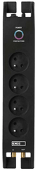 Emos Přepěťová ochrana 1800J - 4 zásuvky, 2 m, černá (1909040201)