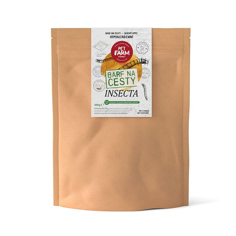 Pet Farm Family Insecta BARF na cesty 400 g