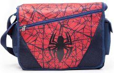 CurePink Taška na rameno Marvel Spiderman: The Ultimate Spiderman (40 x 60 cm) modrá polyester