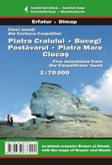 World Maps Piatra Craiului, Bucegi, Postavarul, Piatra Mare and Ciucas 1:70t turistická map