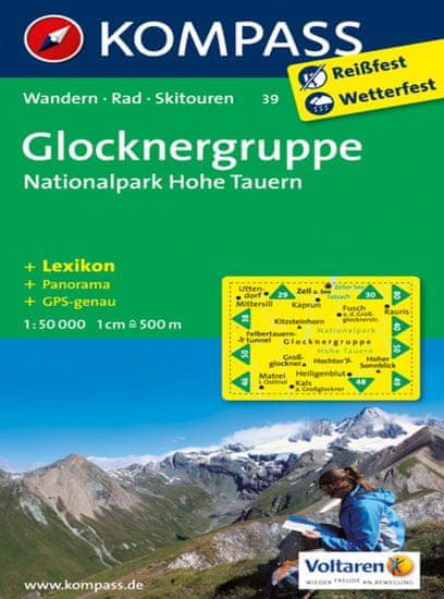 World Maps KOMPASS 39 Glocknergruppe, NP Hohe Tauern 1:50t turistická mapa