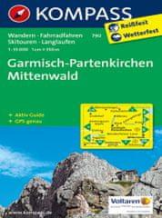 World Maps KOMPASS 790 Garmisch-Partenkirchen, Mittenwald 1:35t turist mapa