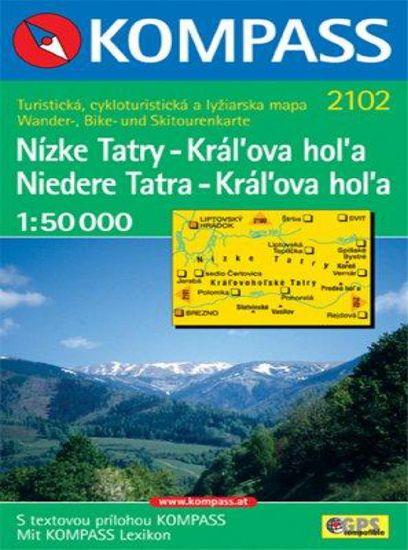 World Maps KOMPASS 2102 Nízke Tatry - Kráľova hoľa 1:50t turistická mapa