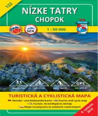 World Maps VKU122 Nízke Tatry, Chopok 1:50t turistická mapa VKÚ Harmanec / 2018