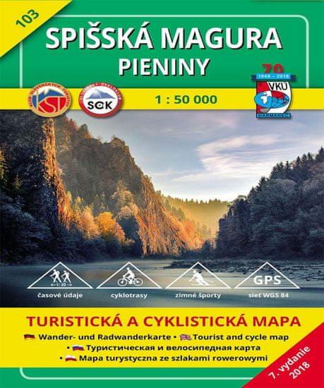World Maps VKU103 Spišská Magura, Pieniny 1:50t turistická mapa VKÚ Harmanec / 2018