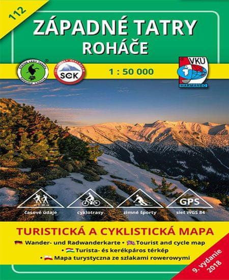 World Maps VKU112 Západné Tatry, Roháče 1:50t turistická mapa VKÚ Harmanec / 2018