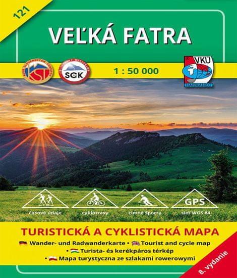 World Maps VKU121 Veľká Fatra 1:50t turistická mapa VKÚ Harmanec / 2017
