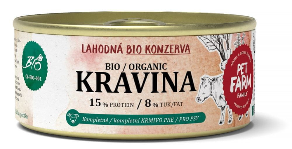 Pet Farm Family BIO Kravina konzerva 12 x 100 g