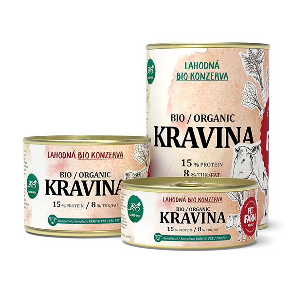 Pet Farm Family BIO Kravina konzerva 10 x 400 g