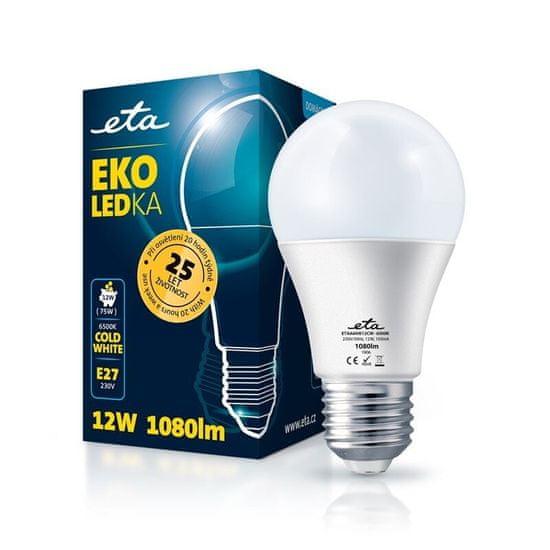 ETA LED žarnica, E27, 12 W, hladno bela