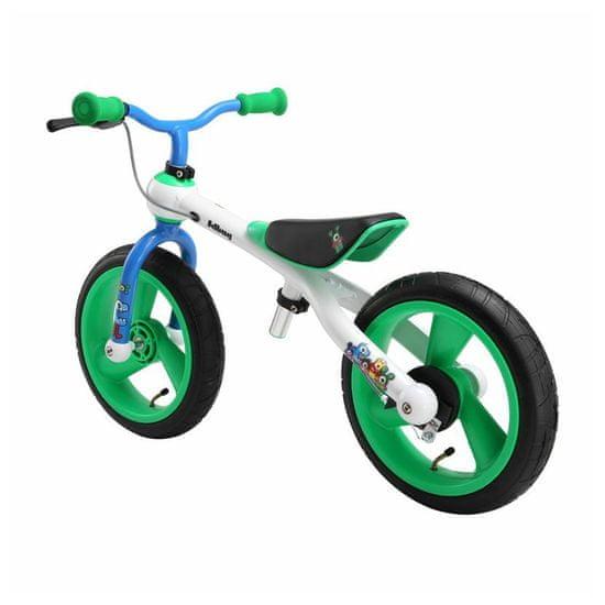 JD Bug TRAINING BIKE Crazy Colours odrážedlo - zeleno/bílo/modré