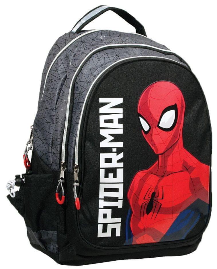 GIM Batoh Spiderman black silver