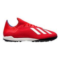 Adidas X Tango 18.3 TF RED / WHITE futballcipő, Férfiak BB9399 | FEHÉR PIROS 43 1/3