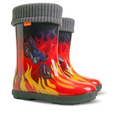 Demar izolirani fantovski škornji HAWAI LUX EXCLUSIVE ED, plamen, 34-35, rdeči