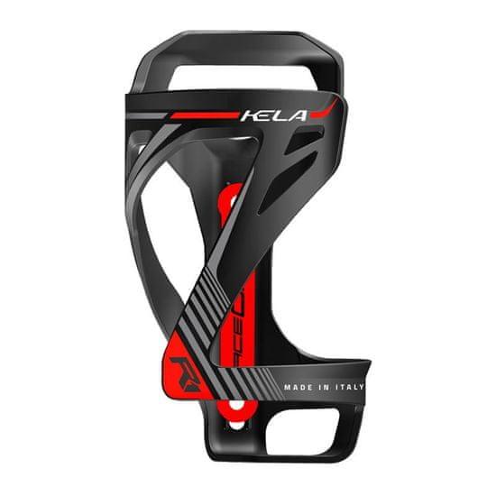 RaceOne KELA košík na láhev - černo/červený matný