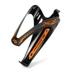 RaceOne X3 RACE košík na láhev - černo/oranžový matný