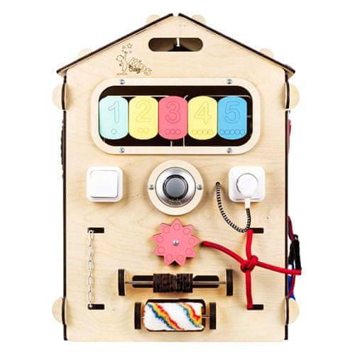 Elis Design Aktivnostna plošča Natural House, Aktivnostna deska BusyHouse Natural | N2019 | 3451
