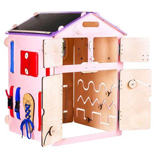 Elis Design Aktivnostna tabla Pink House, Aktivnostna deska BusyHouse Rose | R2019 | 3309