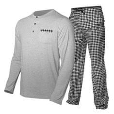 Tufte Moška pižama , Bambusov rajon | siva XL