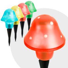GARDEN OF EDEN 6x LED solarna svetilka v obliki gobe več barv