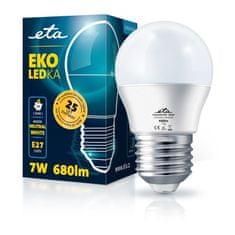 ETA LED žarnica, G45, E27, 7 W, nevtralno bela