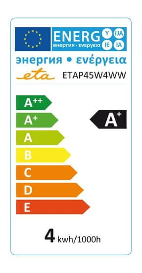 ETA LED žarnica, P45, E14, 4 W, toplo bela - Odprta embalaža