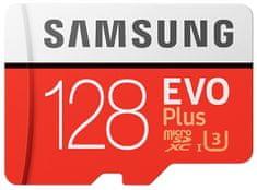 Samsung Evo Plus micro SD kartica, 128 GB + SD adapter - Odprta embalaža