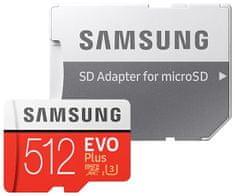 Samsung Evo Plus micro SD kartica, 512 GB + SD adapter