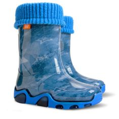 Demar izolirani otroški škornji Stormer Lux Print AC jeans star, 30-31, modra