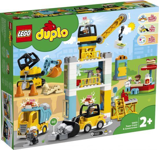 LEGO Duplo® Town 10933 Gradnja s stolpnim žerjavom
