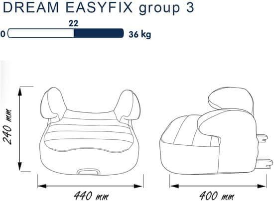 Nania otroški avtosedež Dream EasyFix 2020